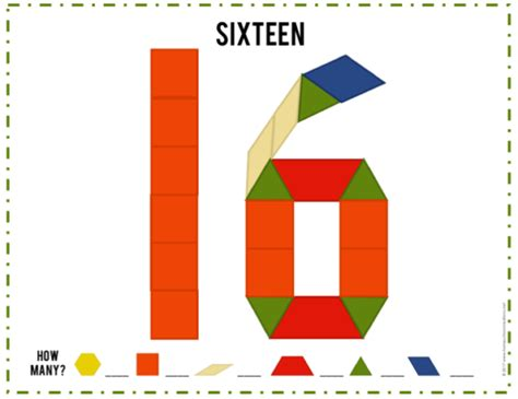 pattern block numbers pattern block mats and cards new printables
