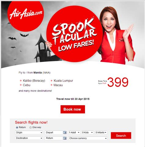 air asia spooktacular low fares from php399 you should knows