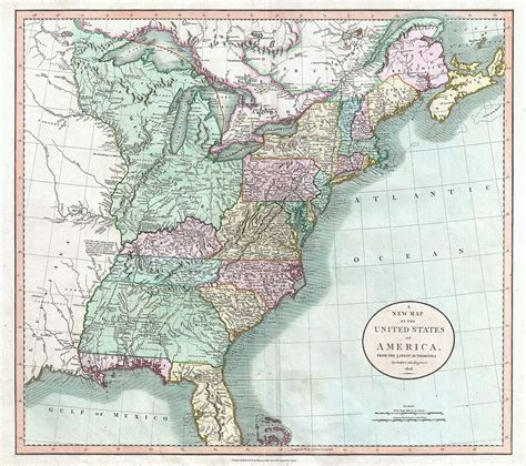 mississippi river on map of united states file 1806 cary map of the united states east of the