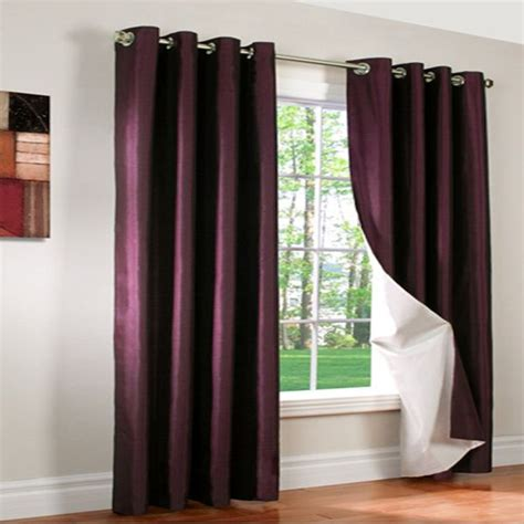lilac silk curtains miller lilac insulated thermalogic faux silk reversible