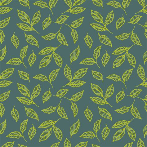 natural pattern ai seamless green leaf pattern vector premium download