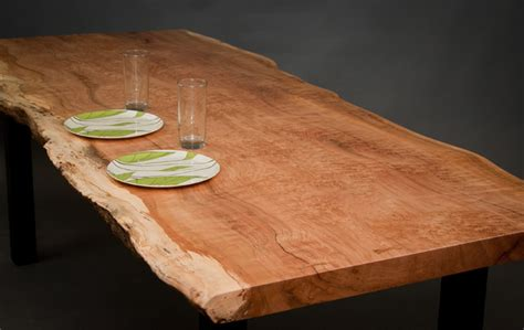 Reclaimed Wood Dining Table Seattle Figured Reclaimed Maple Dining Table Modern Dining