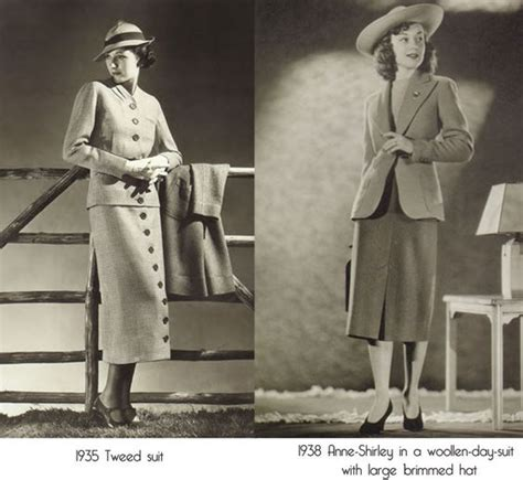 Attire For Women Mid 30s | 1930s 1930s fashion and woman suit on pinterest