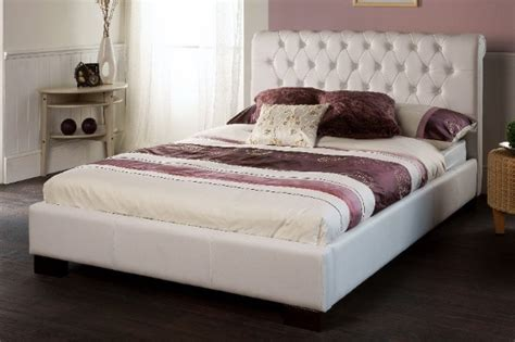 white double bed headboard limelight aries white faux leather double bed frame