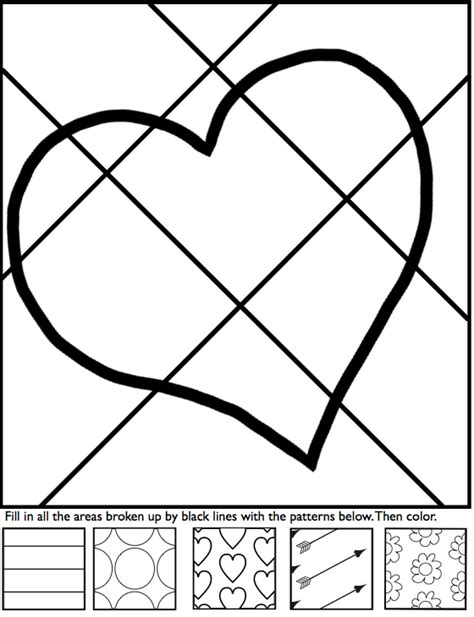 interactive coloring sheets for valentine s day from art