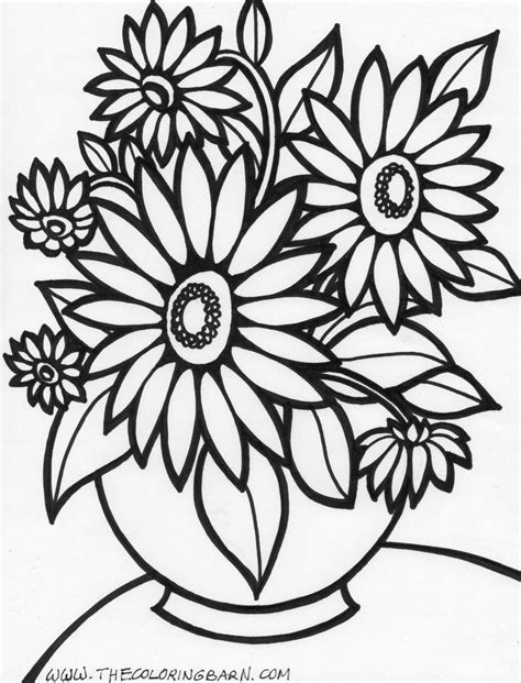 Flower Coloring Pages For Adults Bestofcoloring Com Coloring Pages For Flowers