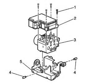 03 Gmc Yukon Service Brake System Repair Guides Anti Lock Brake System Module