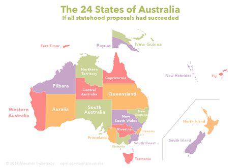 map of the states of australia the 24 states of australia
