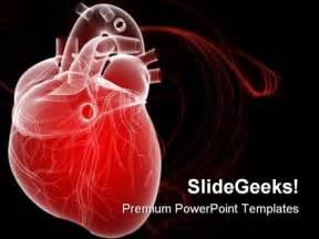 free cardiac powerpoint templates human powerpoint template 0610 3d rendered