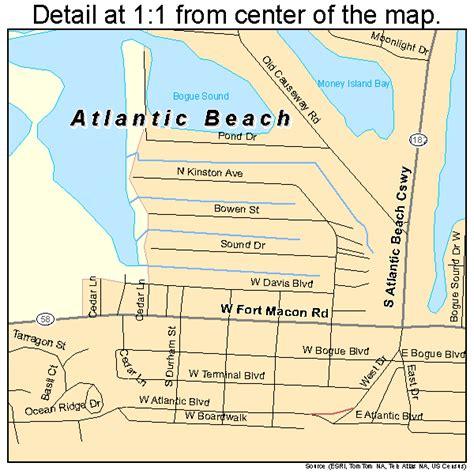 map carolina beaches atlantic carolina map 3702500