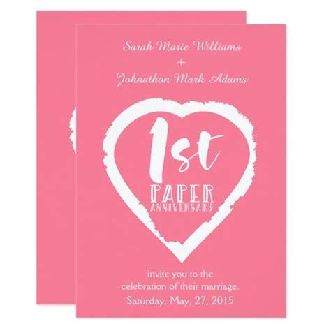 1st wedding anniversary invitation wording 1st paper wedding anniversary card cards