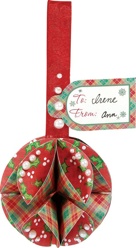 folded paper ball ornaments
