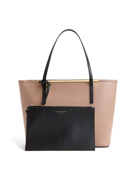 Ted Baker Browen lyst ted baker nicola colour block leather shopper bag