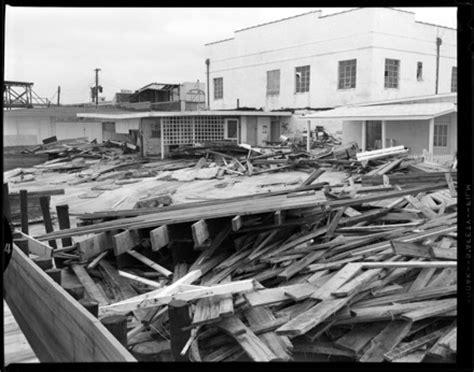 hurricane damage at carolina beach, nc, 1954   a view to hugh