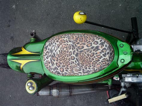 Kulit Jok Honda C70 Racing Kulit Jok C70 Jok C70 jok imut motif kulit macan gilamotor