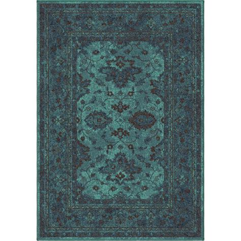 bright blue rugs orian rugs blue bright colors 6 ft 7 in x 9 ft 8 in indoor area rug 355178 the