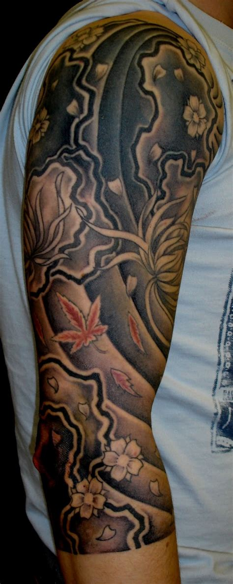 half sleeve cover up tattoos for men japanese tattoos for