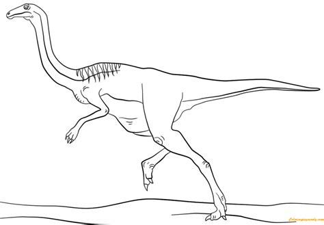 jurassic gallimimus coloring page free coloring pages