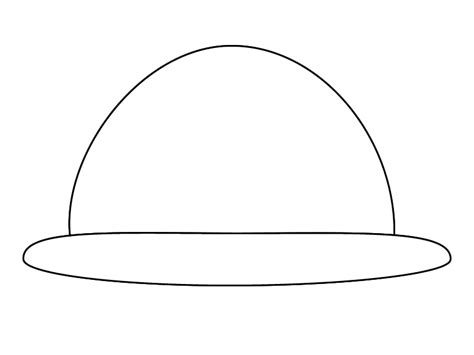 hat outline template search results for free printable new years hats