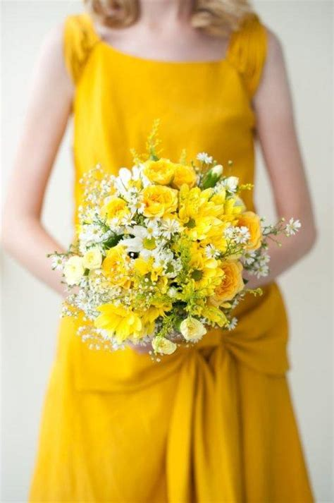 Bridesmaid Bouquet Yellow by Bouquets Bouquet Wedding Flower