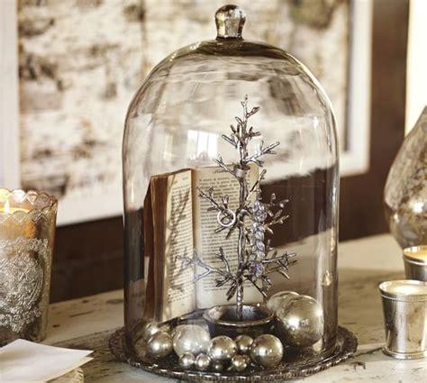 alston mercury glass tray cloche pottery barn