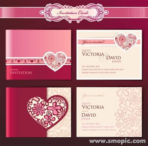 card wedding template wedding invitation card cover background