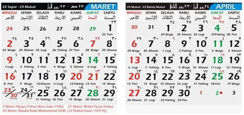 Kalender 2018 Maret Selamat Datang Di 13 Jakarta