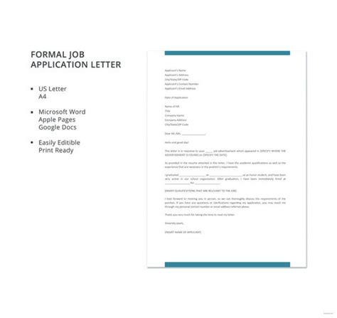 job application letter templates word
