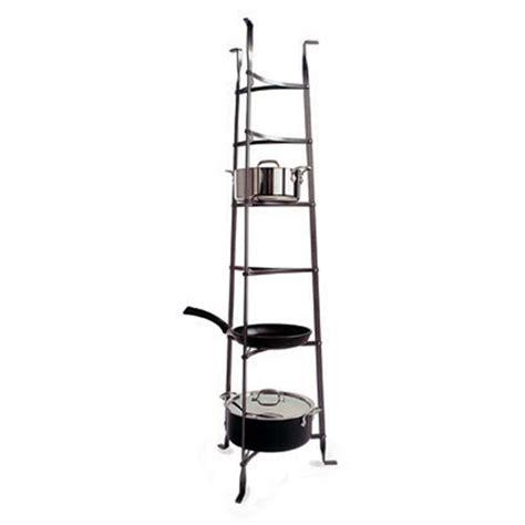 Saucepan Rack Stand Premier 6 Tier Cookware Stand Pot Rack Hammered Steel
