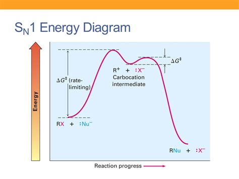 sn1 energy diagram reactions of alkyl halides nucleophilic substitution and