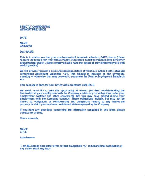 Change Of Contract Hours Letter Contract Termination Letter 8 Free Word Pdf Documents Free Premium Templates