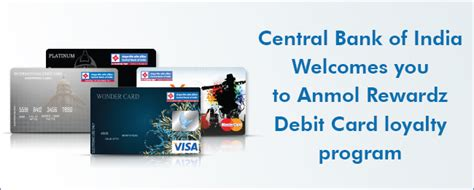 Central Gift Card India - central bank of india anmol rewardz debit card loyalty program