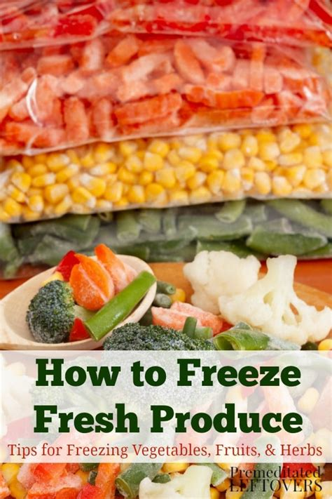 How To Freeze Vegetables From The Garden Freezing Fresh Produce How To Freeze Fruits And Vegetables