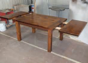 Kitchen Tables With Leaf Harvest Dining Table Reclaimed Harvest Table Standard End Leaves Installed1 Table Ideas