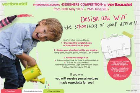 vertbaudet design competition vertbaudet design a school bag competition baby budgeting
