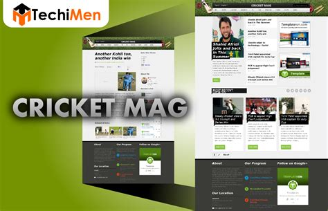 Cricket Templates For Blogger   cricket mag template for blogger techimen