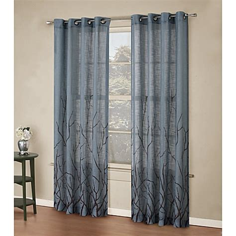 alton drapes buy alton print 95 inch grommet top panel in blue from bed