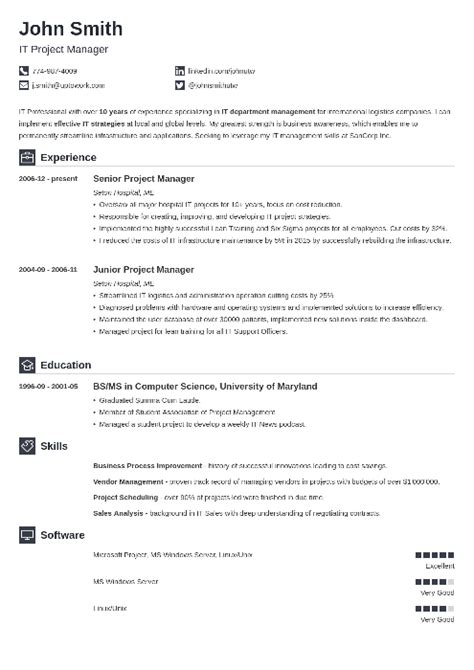 Simple Resume Template by 20 Resume Templates Create Your Resume In 5