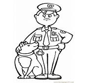 Police Dog  Free Coloring Pages On Art