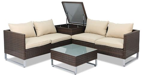 outdoor sofa with storage royal synthetic rattan outdoor sofa set with storage box