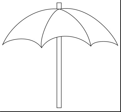 Coloring Page Umbrella by Umbrella Clipart Coloring Page Pencil And In Color