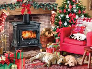 Home Fall Decorating Ideas cozy christmas puzzle jigsaw puzzles