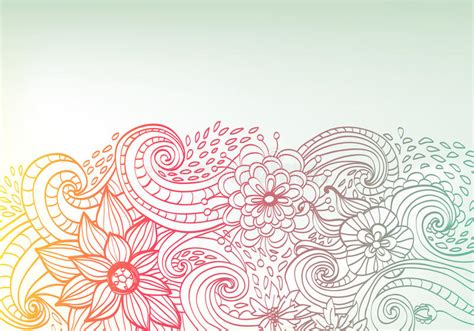 free theme doodle doodle color floral background royalty free stock photo