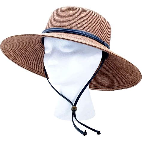 sun hat wide brim braided protection upf 50