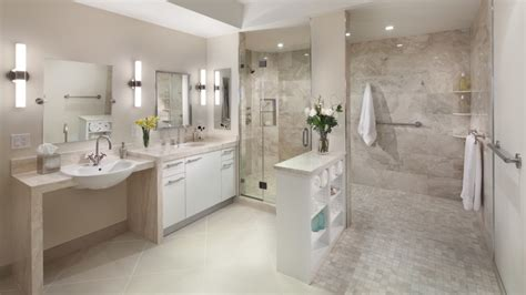 Large Bathroom Design Ideas this bathroom remodel includes a large accessible shower with grab