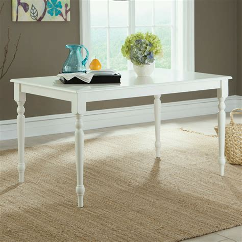 rectangle kitchen table and chairs cottage farmhouse style rectangular dining table white wood kitchen seats 6 new ebay