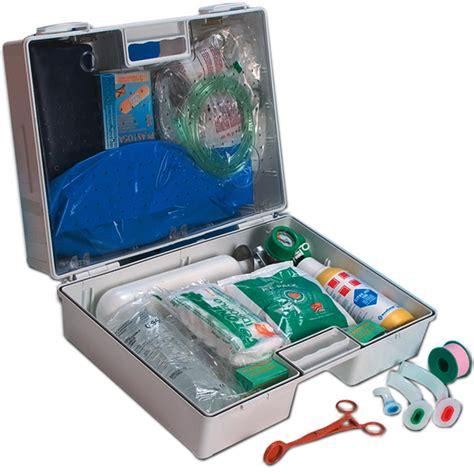 cassetta pronto soccorso 626 kit emergenza 118 valigetta 3 bombola ossigeno