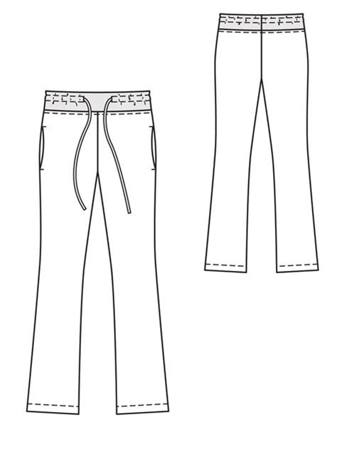 pattern templates from issue 40 sew hip drawstring pants 01 2013 111 sewing patterns