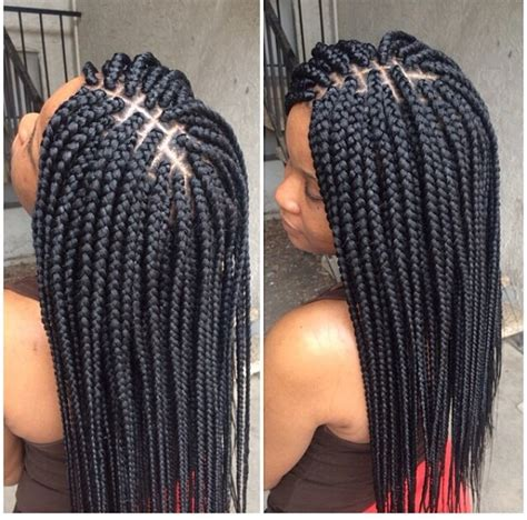 medium size box braids with a bang box braids box braids pinterest box hair style
