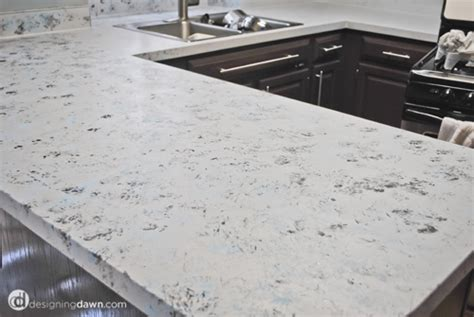Painting Laminate Countertops White by Remodelaholic Glossy Painted Kitchen Counter Top Tutorial
